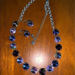 Swarovski crystal necklace with earrings
